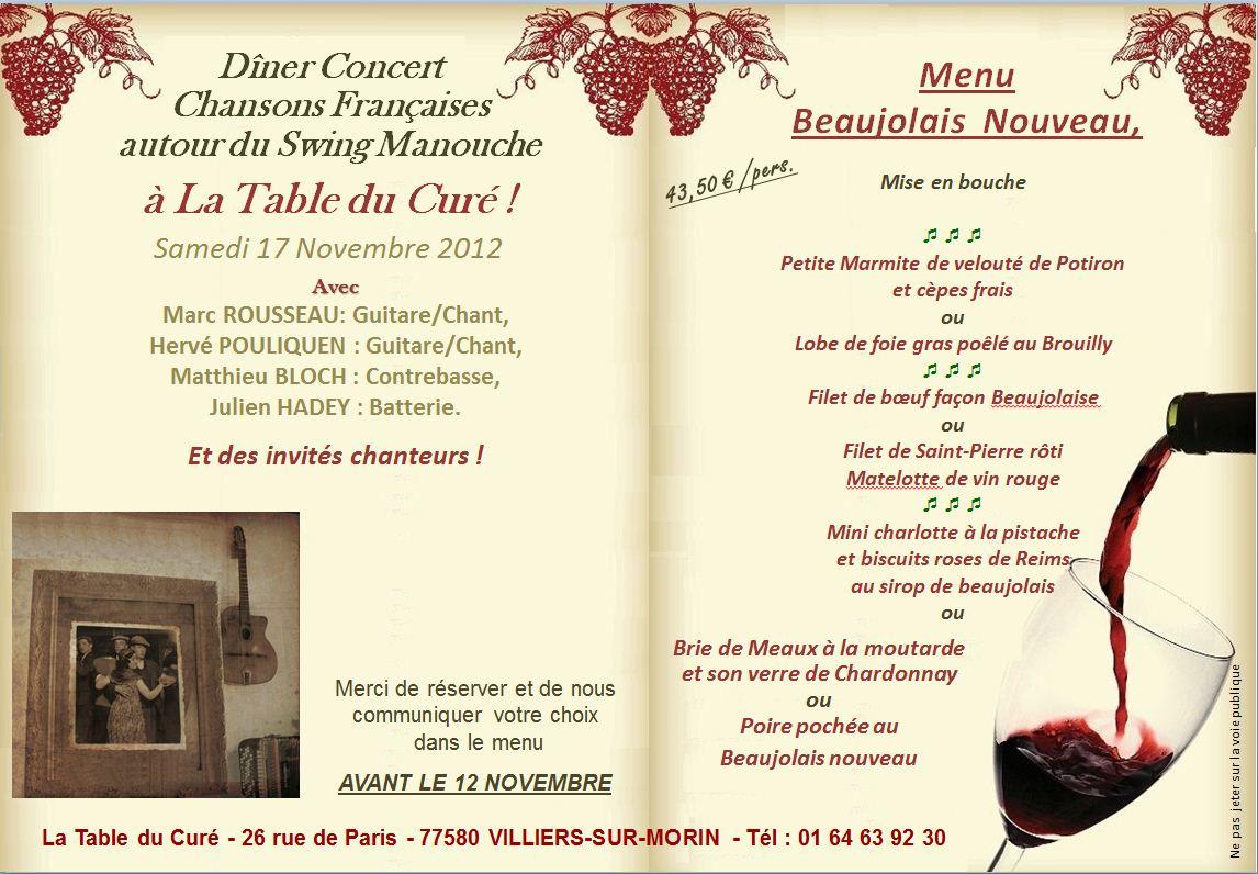 La table du cur soir e beaujolais - Idee menu pour soiree beaujolais ...