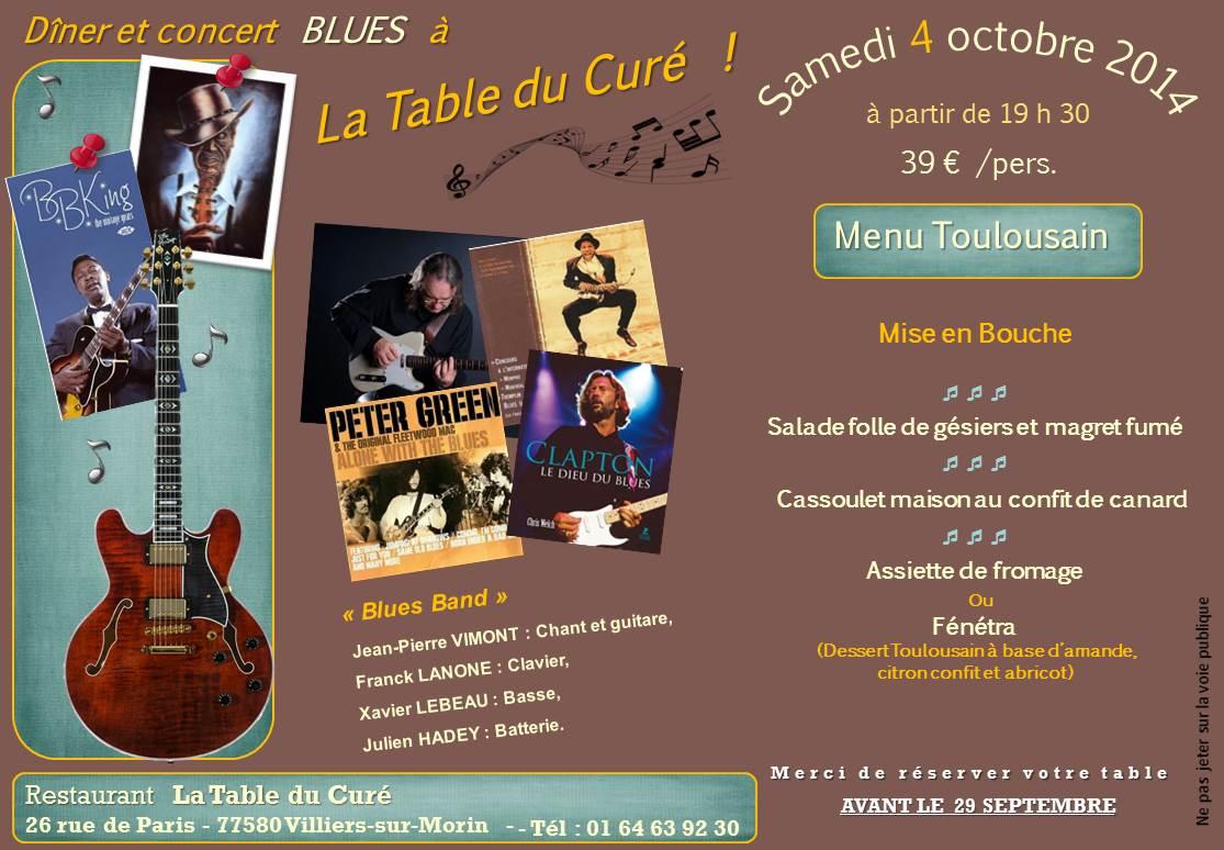 La table du cur d ner concert blues le - La table de chessy ...