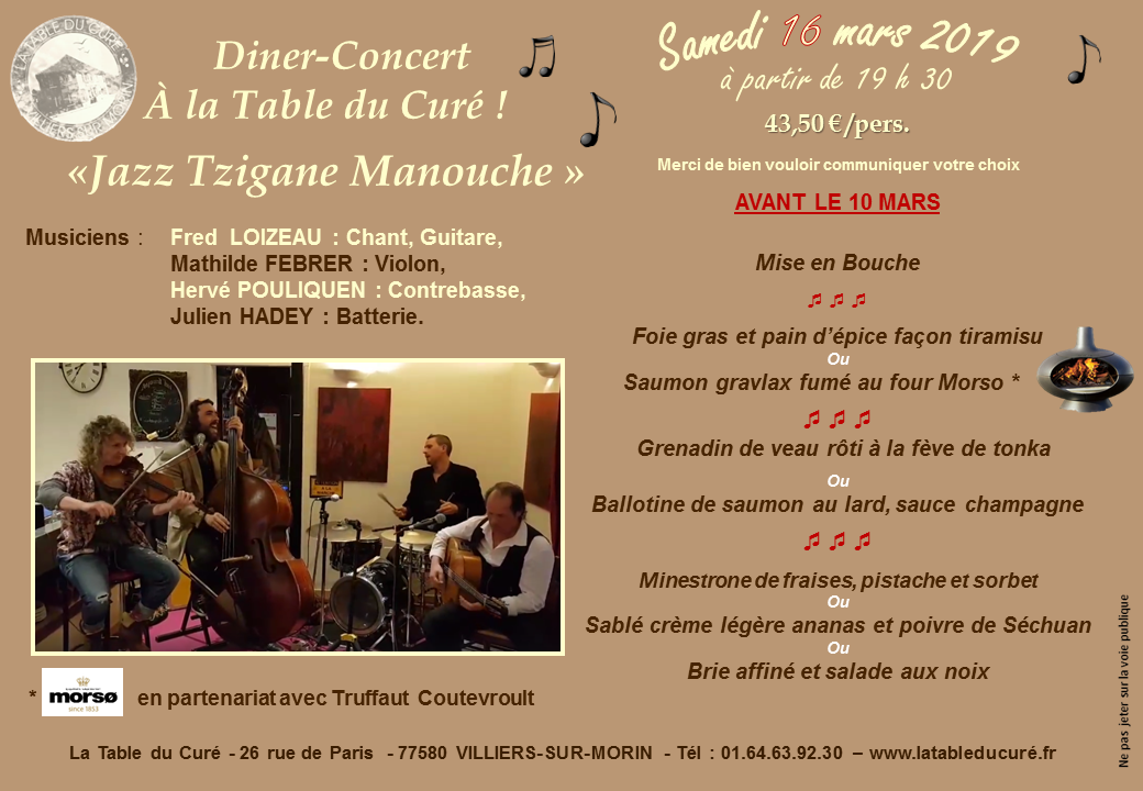 SOIREE TZIGANE manouche 16 mars 2019