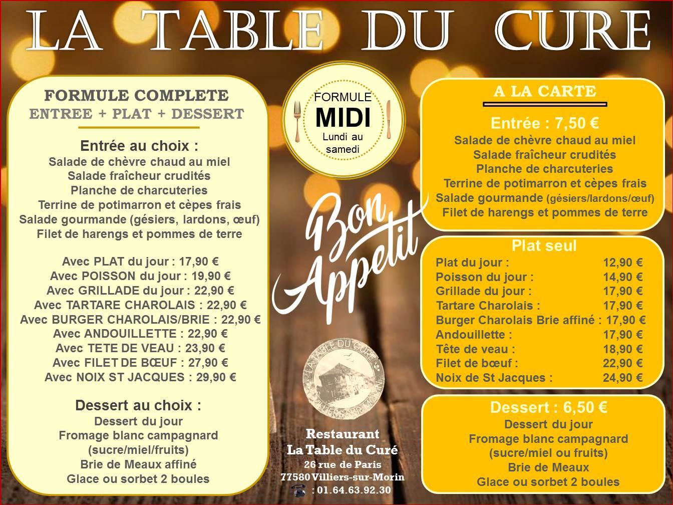 menu covid midi HIVER